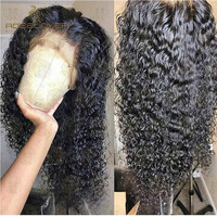 Wet and Wavy 360 Lace Frontal Wig Pre Plucked with Baby Hair Curly Human Hair Wigs Bleached Knots Brazilian Remy Lace Front Wigs