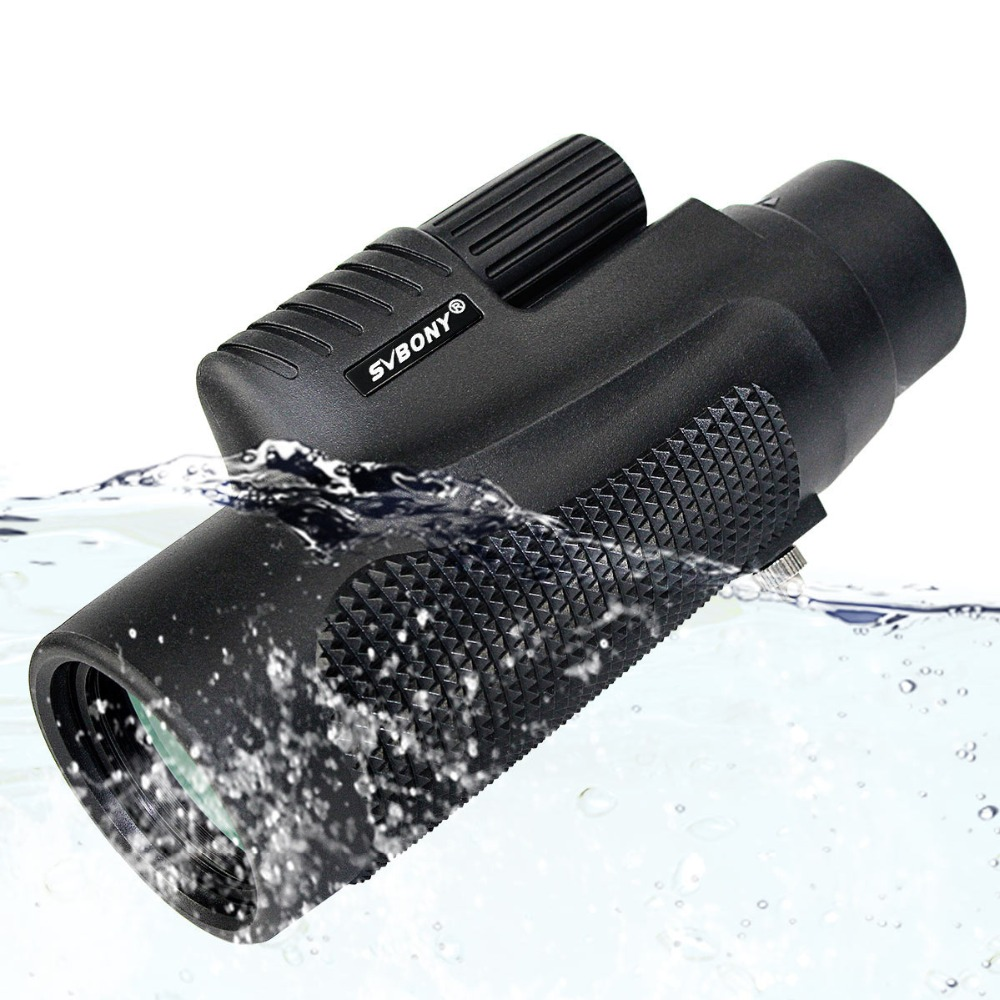 تلسکوپ Monocular SVBONY 10x42 ضد آب BK7 Focus Travel Camping Optics Outdoor Walking Telescope Monocular F9116AD