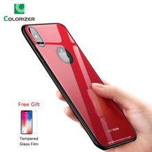 Tempered Glass Luxury Phone Case For iPhone X Xs Max XR Soft TPU + Back Cover Housing Logo Reveal 8 7 6s 6 Plus