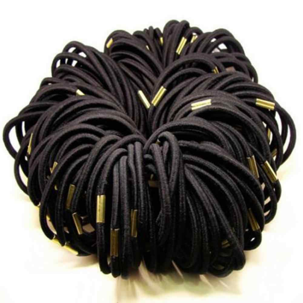 10PCS/Set Women Black Elastic Hair Ties Band Rope Ponytail Bracelets Scrunchie Ponytail Holder Gum For Girls Hair Accessories