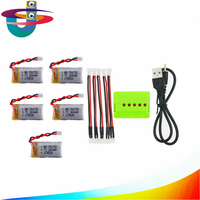 5Pcs 3 7V 260mAh 2 0 Connect Lipo Battery And Charger X5 For Eachine E010 JJRC