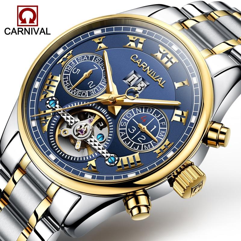 Carnival Horloge Heren Tourbillon Automatisch Mechanisch Roestvrij - Herenhorloges - Foto 1