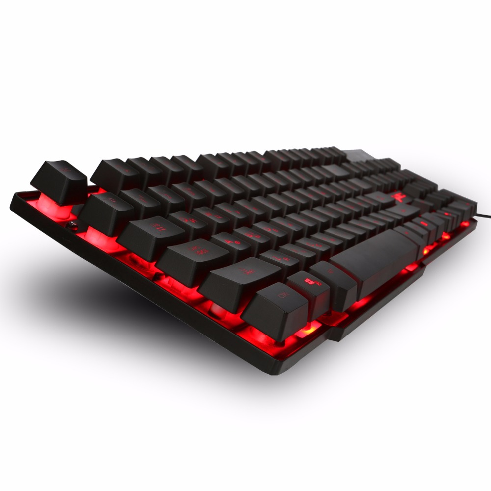 HXSJ R8 Russian Gaming Keyboard with 3 Colors Backlit Keycaps with Similar Mechanical keyboard Feel Teclado Gamer for PC Games цена