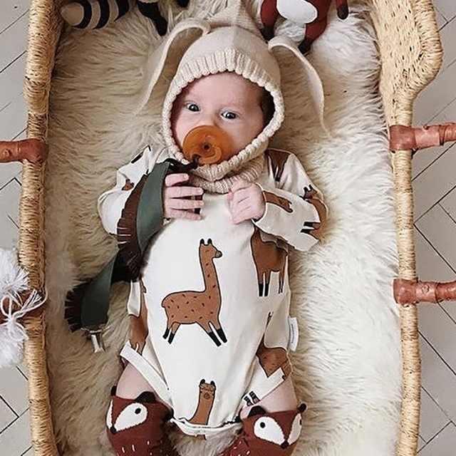 aca5952ec9300 ... TinyPeople Alpaca Llama Bodysuit Baby Boys Girls Jumpsuit Baby Clothing  Vestidos 2019 Summer Autumn Bobo Chose ...
