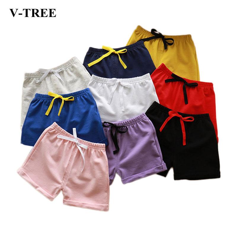 Summer Children Beach Shorts Cotton Grils Shorts Boys Swimwear Colored Boardshorts Kids Clothing Toddler Shorts