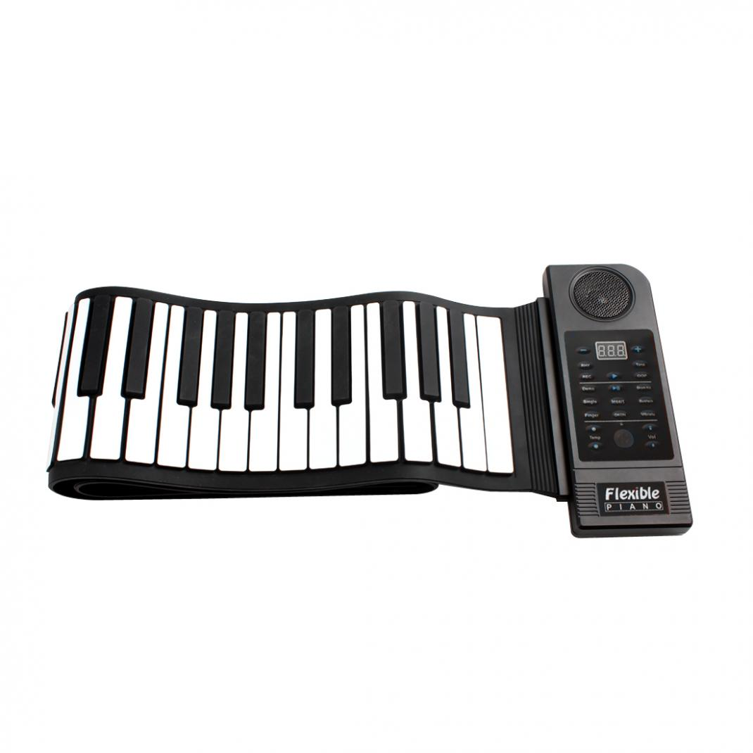 Купить с кэшбэком Professional Folding Portable Keyboard Piano 88 Keys 128 Tones Digital Electronic Organ Roll Up MIDI Piano Built-in Speaker