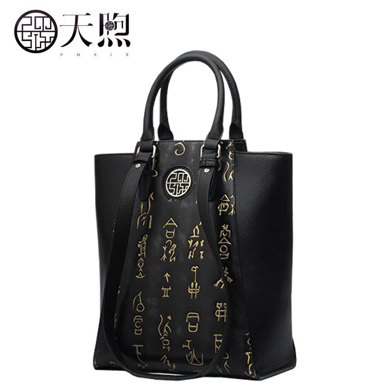 цена на New women genuine leather bags fashion luxury handbags designer Chinese embossed women bag tote handbags shoulder bags