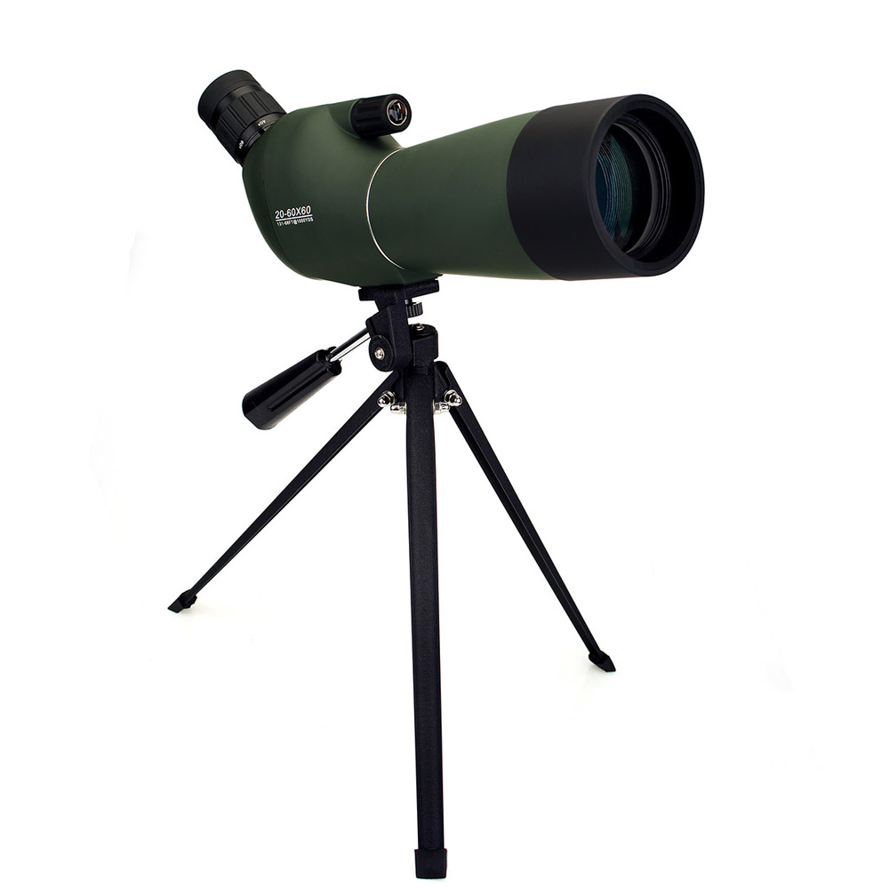 LAIDA 20-60x60 Spotting Scope Zoom Telescope 45-Degree Angled Monocular for Hunting Birdwatching w/ Tripod Soft Case M0064A цена
