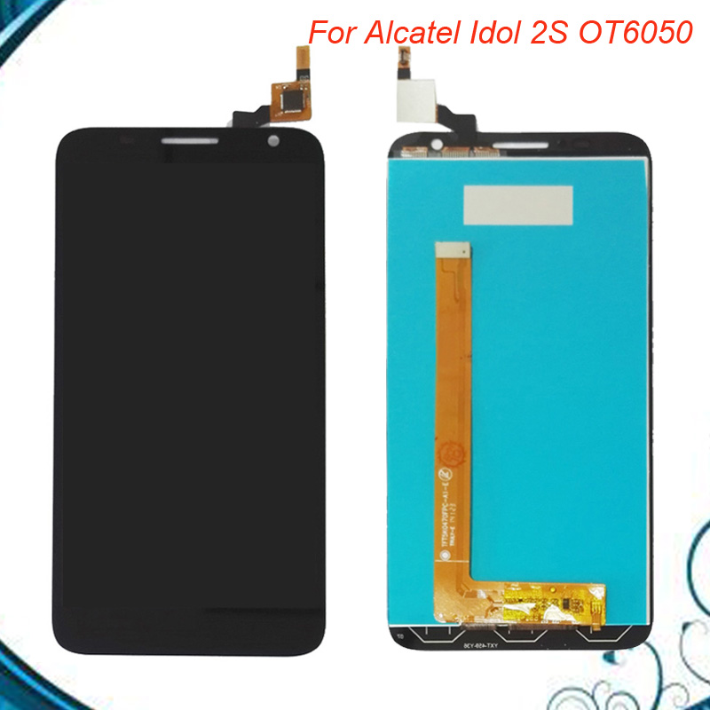 5.0 Inches BLACK LCD Display For Alcatel One Touch Idol 2S 6050 6050Y OT6050 Touch Screen Digitizer Assembly5.0 Inches BLACK LCD Display For Alcatel One Touch Idol 2S 6050 6050Y OT6050 Touch Screen Digitizer Assembly