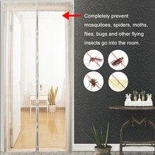 Summer Anti Mosquito Magnética Cortina de Tul Cortinas de Cierre Automático de la Pantalla de La Puerta Cortinas de la Cocina de Varios Tamaños