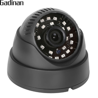 GADINAN NEW Home Full HD Surveillance 2MP AHD Indoor Mini Black Dome Security 1080P CCTV Camera