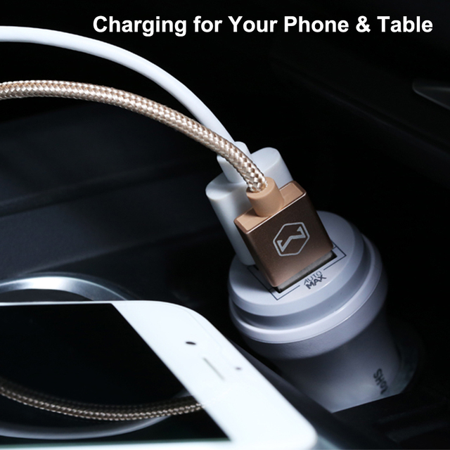 Mcdodo double chargeur de voiture USB 2.4A charge rapide pour iPhone 7 8 adaptateur chargeur de voiture pour Samsung Oneplus 5 Xiaomi chargeur de téléphone de voiture