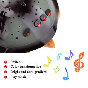 Image 2 - Coquimbo Sleeping เต่าเนอสเซอรี่ Night Light เด็กเพลง USB Powered Plush Nightlight โปรเจคเตอร์ Star ห้องนอนโคมไฟกลางคืน