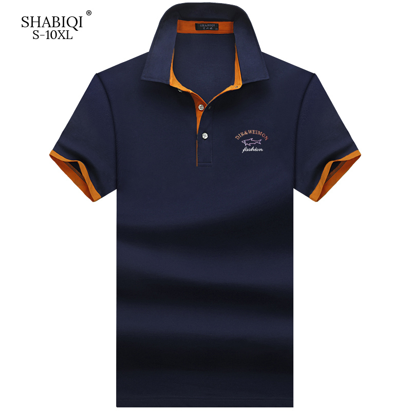 SHABIQI Brand Fashion Classic Men   Polo   Shirt Summer Short Sleeve   Polos   Shirt Mens Solid Shirt Cotton Shirt Plus Size S-10XL!