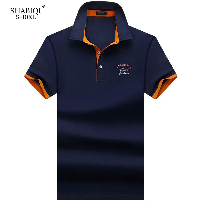 SHABIQI Brand Fashion Classic Men   Polo   Shirt Summer Short Sleeve   Polos   Shirt Mens Solid Shirt Cotton Shirt Plus Size S-10XL!