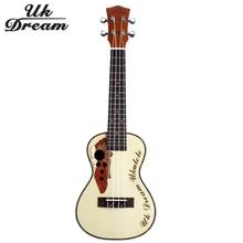цены на 23 inch Mini Wooden Acoustic Guitar 18 frets Ukulele Picea Asperata Brazil Wood Semi-Closed Knob Four Strings Guitar  UC-316  в интернет-магазинах