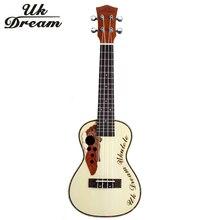 23 inch Mini Wooden Acoustic Guitar 18 frets Ukulele Picea Asperata Brazil Wood Semi-Closed Knob Four Strings Guitar  UC-316