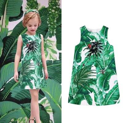 ФОТО New Arrive 2016summer dress  monsoon  girls  flower dress  baby sundress roupas infantis menina