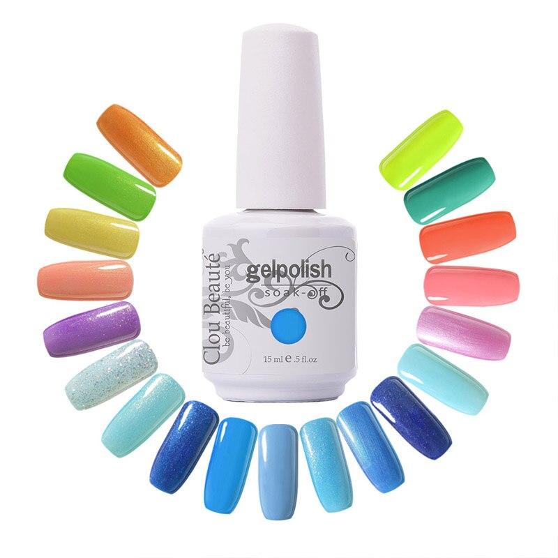 New Arrive Clou Beaute 220 Culori Alege orice 10 culori Soak Off - Manichiură
