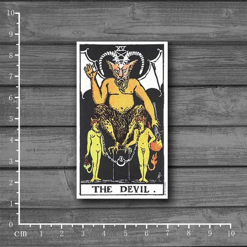 Exclusieve Koop Tarot DUIVEL Op Notebook Laptop Stickers Voor Kids Auto Styling Skateboard Koffer Decal Waterdicht Sticker [Single]
