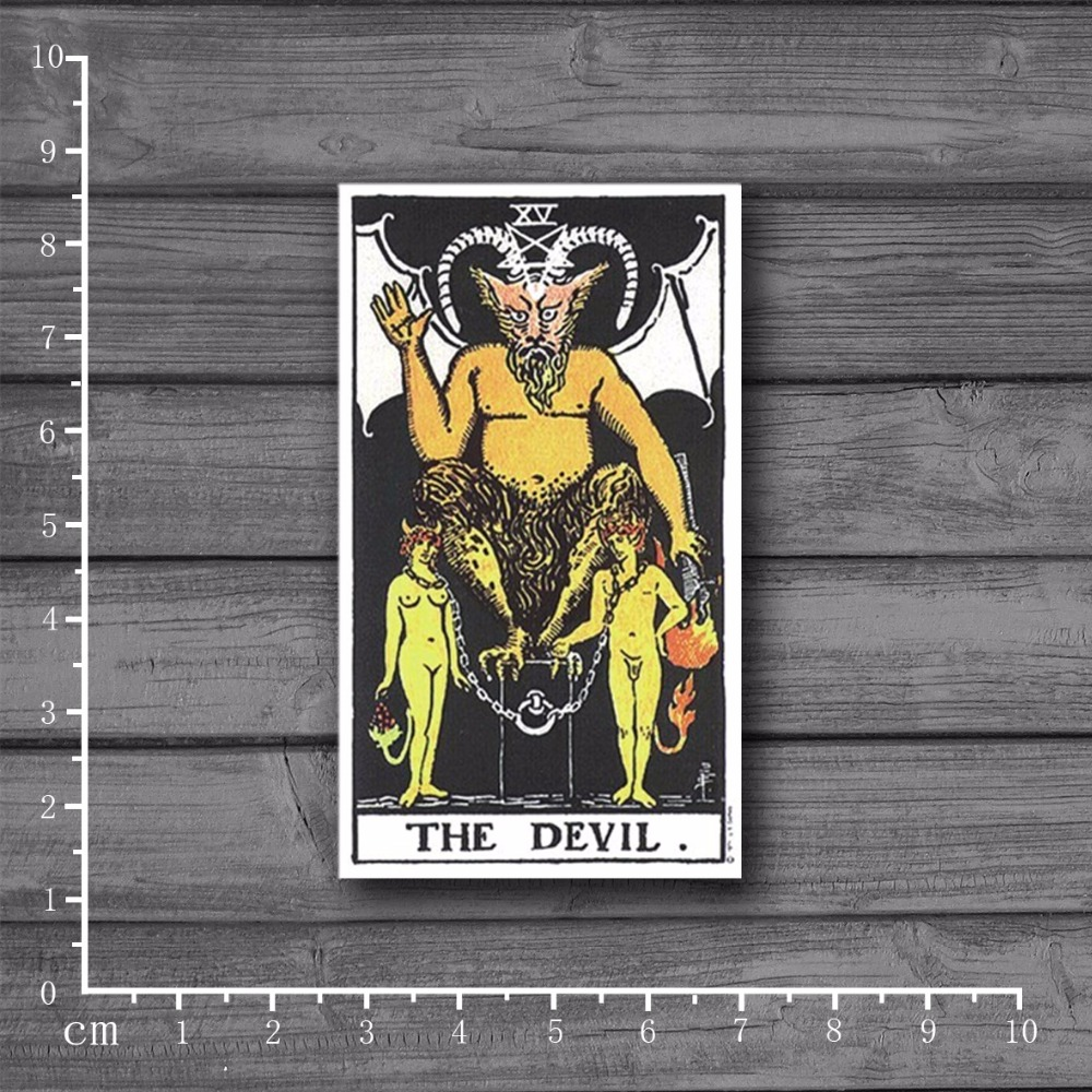 Exclusive Sale Tarot DEVIL On Notebook Laptop Stickers For Kids Car Styling Skateboard Suitcase Decal Waterproof Sticker[Single]