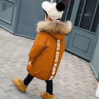 New Baby Boys Winter Coat 3 to 12 Years Hooded Children Patchwork Down Baby Boy Winter Jacket Boys Kids Warm Outerwear Parks