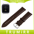 18mm Genuine Leather Watch Band for Asus ZenWatch 2 Women's WI502Q Withings Activite Steel Pop Wrist Strap Bracelet Black Brown
