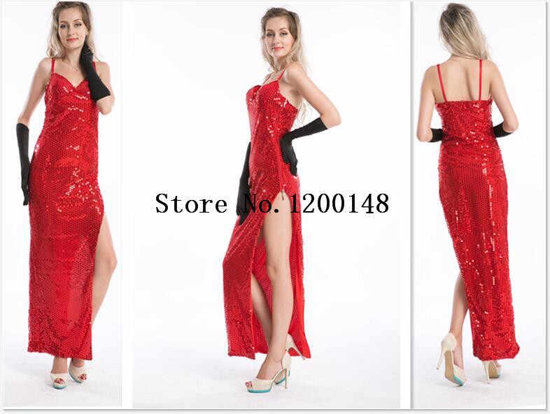 fea3855c2e2 Jessica Rabbit Costume black gloves Holloween red Women s Sexy Bunny  Costume Rabbit Girl Costume S-