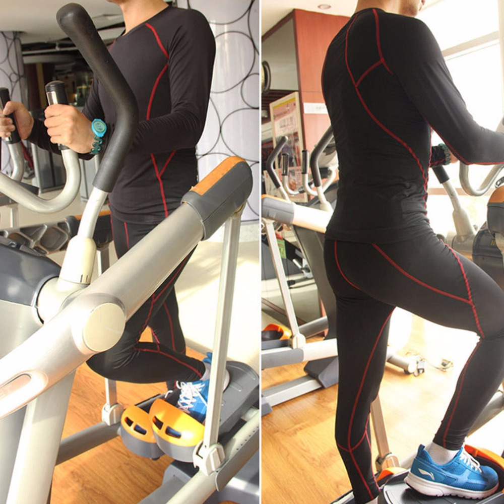 Men Skin Tights Long Pants Sports Jogging Training font b Running b font Trousers Free Shipping