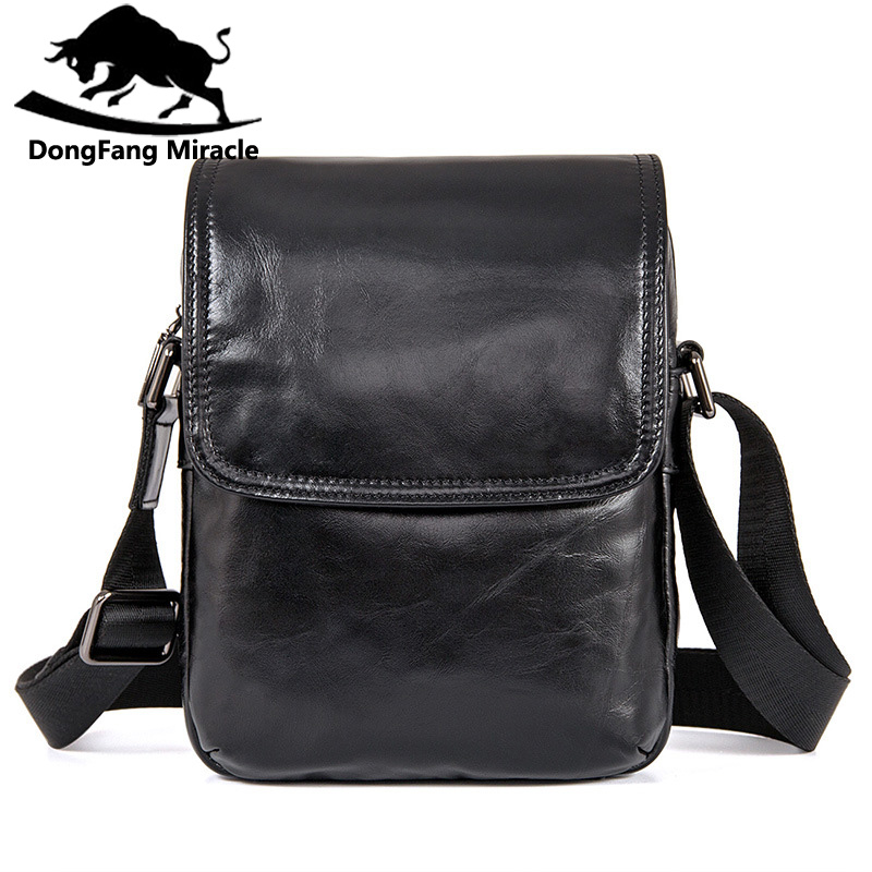 DongFang Miracle High Quality Genuine Leather Men Messenger Bags Casual  Shoulder Bag Male Multifuntional Small BagDongFang Miracle High Quality Genuine Leather Men Messenger Bags Casual  Shoulder Bag Male Multifuntional Small Bag