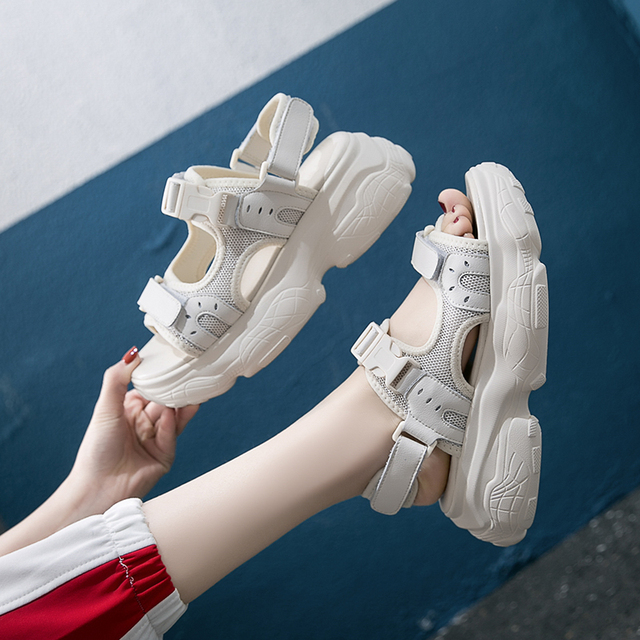 Women's Gladiator Sandals Fashion Summer Thick Sole Platform Ladies Shoes Buckle Beach Sandals Woman sandalia feminina Q85w 1