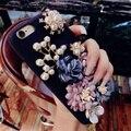 Corea del sur de lujo flores personalidad creatividad para iphone 7 7 plus 6 más 6 s teléfono case de silicona marca tide shell modelo femenino