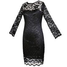 ADW 2017 NEW New women clothing Bodycon peplum flower lace dress slash o-neck sexy evening mini dress black