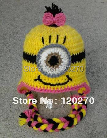 Free Shipping Despicable Me Minion Hat Crochet Pattern Baby Boys