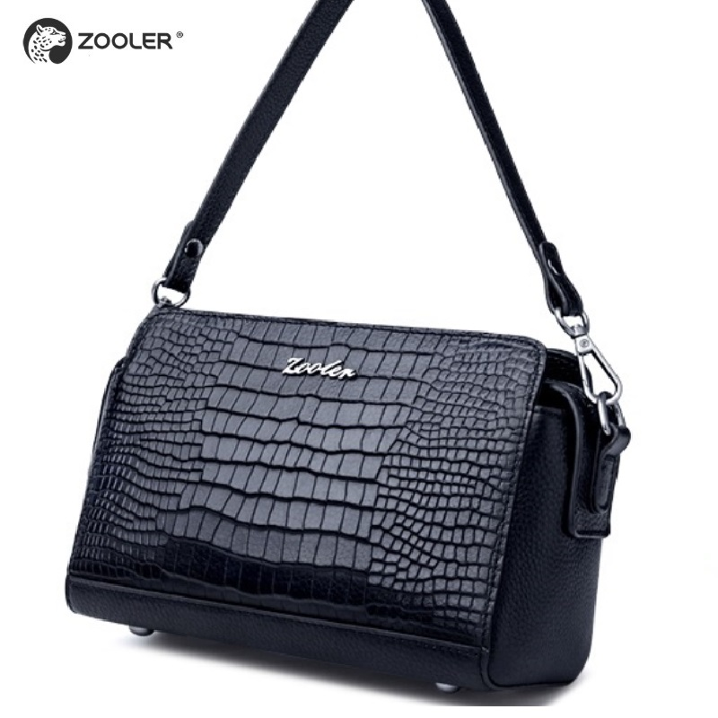 2019 Hot Zooler vrouw bag lederen tassen hot designer cross body vrouwen bekende merken schoudertas bolsa feminina # R153-in Top-Handle tassen van Bagage & Tassen op  Groep 1