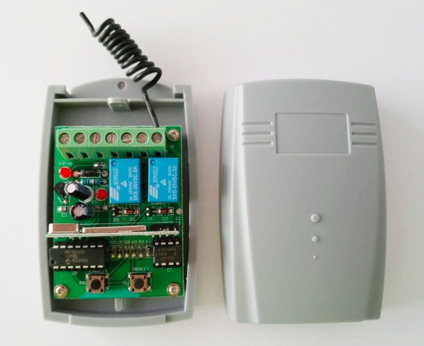 Universal-2-channel-Wireless-Garage-Door-433MHZ-DC12V-24V-Rolling-Code-Receiver-free-shipping
