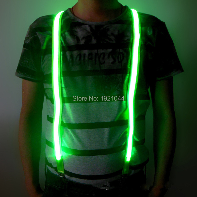 New Design LED Suspenders Glowing Product Light up Men Suspenders Wedding Party DIY Deco ...