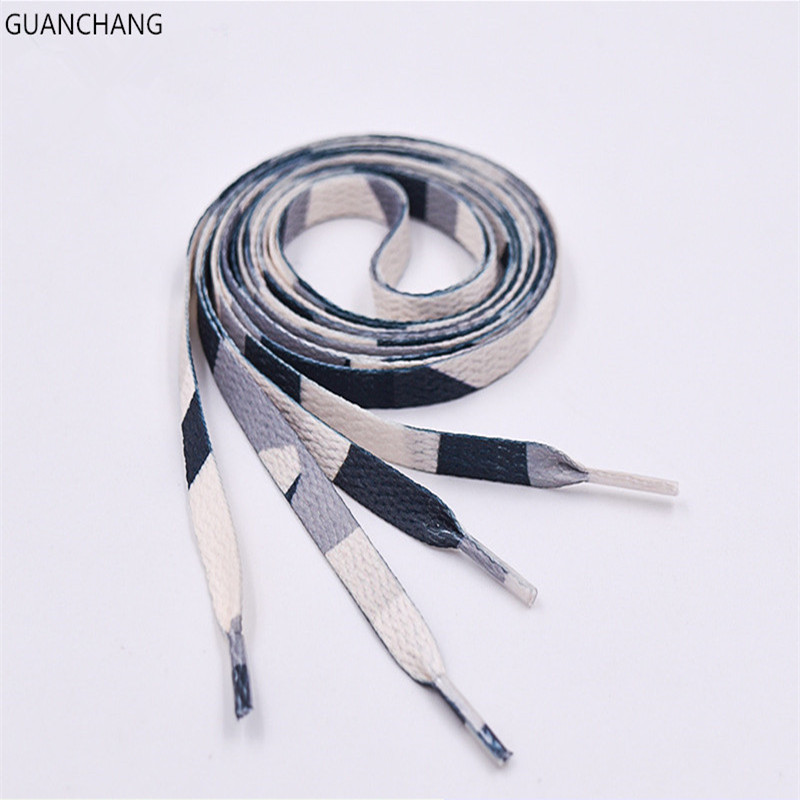 Width Flat Shoelaces Wide Colored Cotton Flag Shoe Laces Unisex Strings Cord For Sneakers Sport Boots Shoe Laces Dropshipping