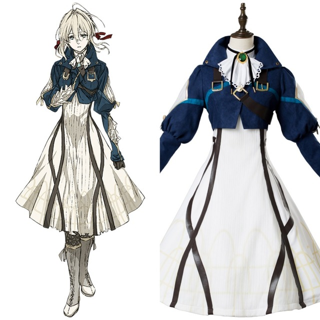 436895e67 Anime Violet Evergarden Cosplay Violet Evergarden Costume Women Cosplay  Japanese Anime Costume Asian Size