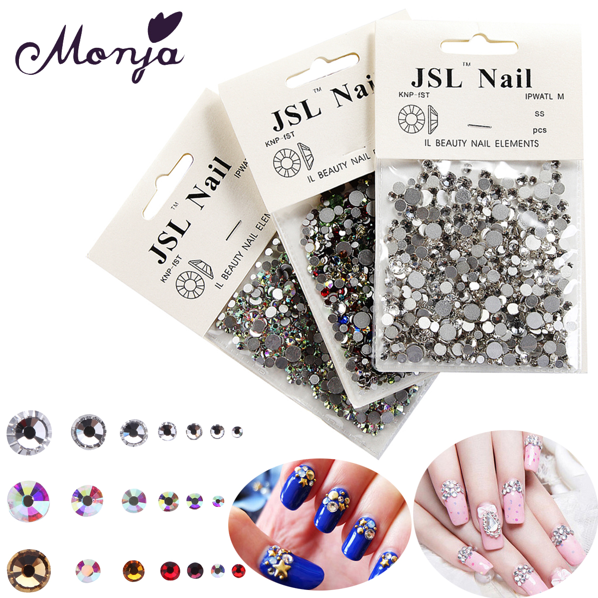 1200Pcs/Bag Multisize Nail Art Diamond Gem Style Shiny Rhinestone Beads Gel Polish Tips 3D DIY Glitter Sparkly Jewelry Accessory dn2 39 mix 2 3mm solvent resistant neon diamond shape glitter for nail polish acrylic polish and diy supplies1pack 50g