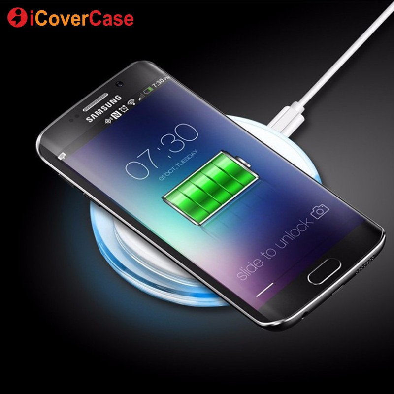 buy online d30c9 3e050 US $11.89 15% OFF|Wireless Charger Qi Charging Pad For Samsung Galaxy J3 J5  2016 J7 2017 Android QI Receiver Wireless Charger Case Phone Accessory-in  ...