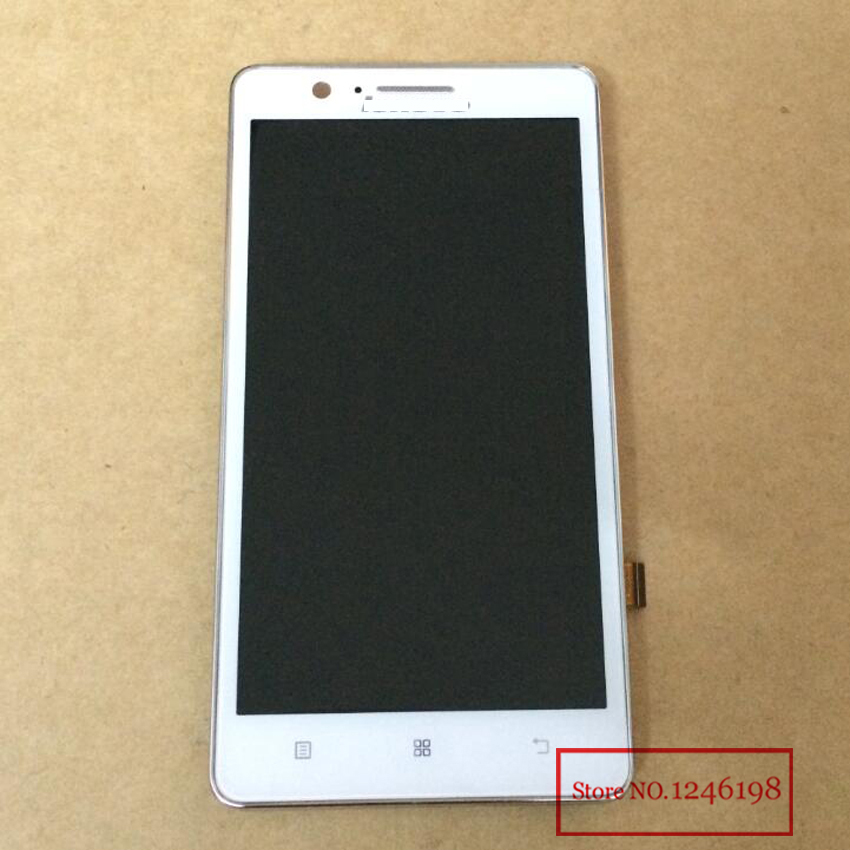 WHITE High Quality Full LCD Display Touch Screen Digitizer Assembly with Frame For Lenovo A536 with LOGO Replacement Parts