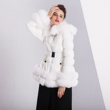 Free shipping new style winter women jackets real fox fur th