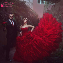 Rot Luxus Prom Ballkleider Organza Kleider Für Besondere Anlässe Rot Kleider Pailletten abendkleider Z573