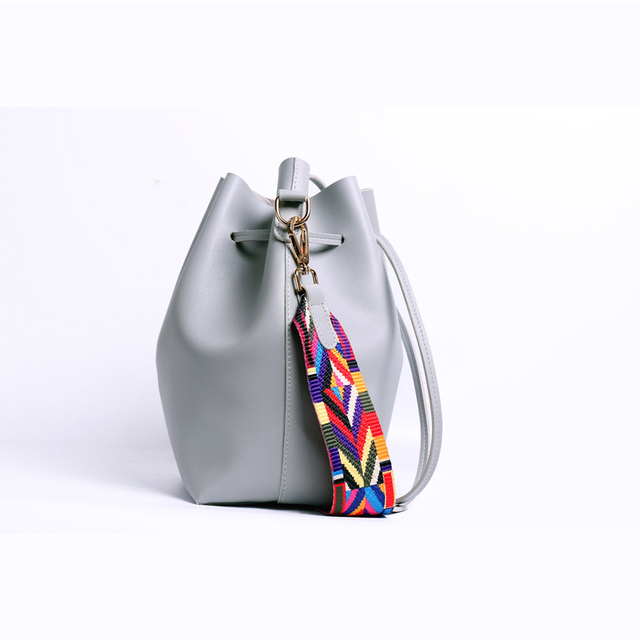 Boho Lace Drawstring Bucket Bag