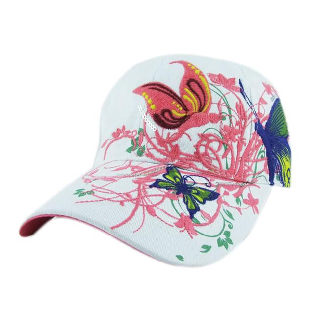 Verão Bordado Boné De Beisebol das mulheres Da Forma Da Senhora de Compras Ciclismo viseira Cap Chapéu de sol