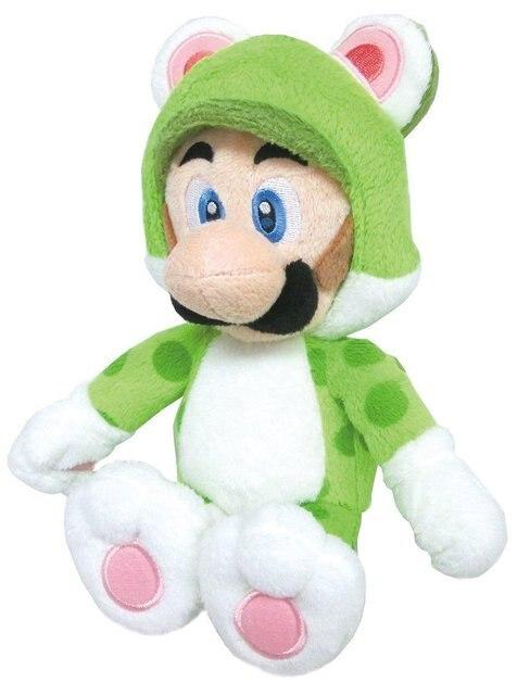 Super Mario Bros Мягкая Кукла Животных Плюшевые Игрушки 3D World Neko Cat Луиджи