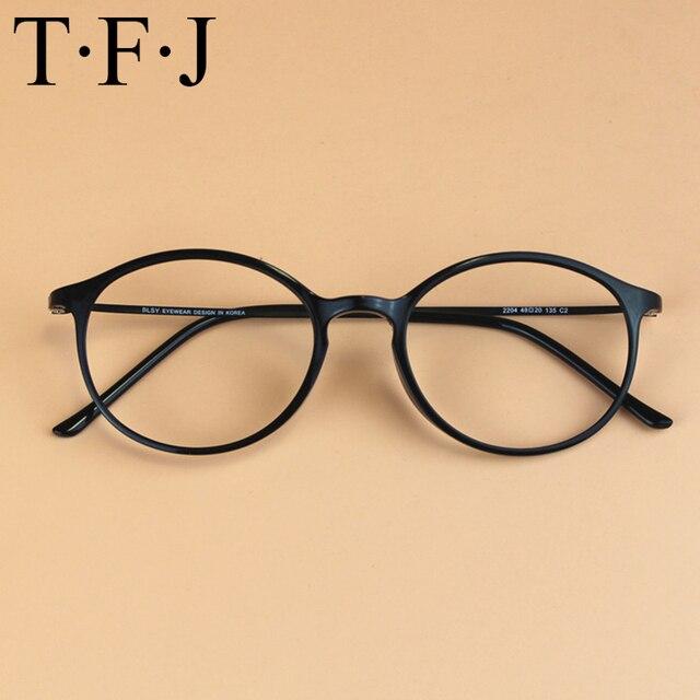 200b8a7fd11e4 TFJ Novo Estilo Homens e mulheres Da Moda Óculos de Armação Óptica lente  Clara Do Vintage