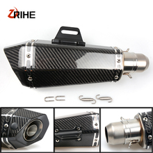 36-51mm Universal CNC Motorcycle  Moto Bike Exhaust Pipe With Muffler For Triumph street triple 675 r/street 675rx
