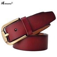 Retail Luxury Vintage Cowskin Genuine Leather Belt Brand Belt For Men Pin Buckle Jeans Cowskin Belts